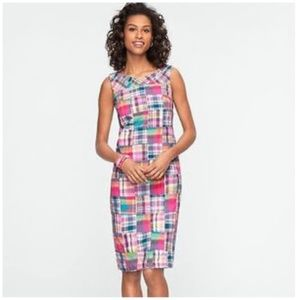 Talbots Petites Madras Patchwork Dress Size 6P